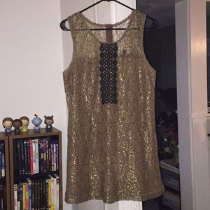 C. Luce Gold/Tan cocktail dress